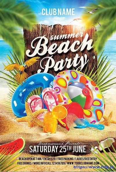 70+ Best Summer Beach Flyer Print Templates 2019 Fripin