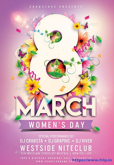 25 Best Womens Day Flyer Print Templates 2019 Fripin