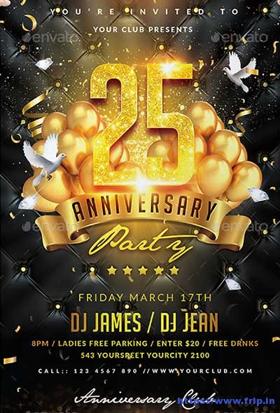 70 Best Anniversary Party Flyer Print Templates 2017 Fripin