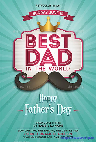 20+ Best Father\u0027s Day Flyer Print Templates 2018 Fripin