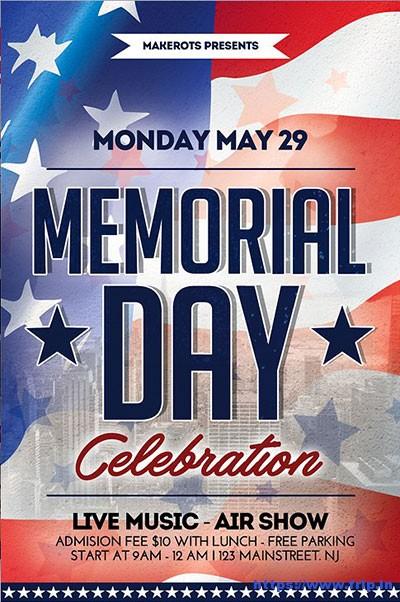 download memorial day flyer psd template psdmarket cvfreeletters