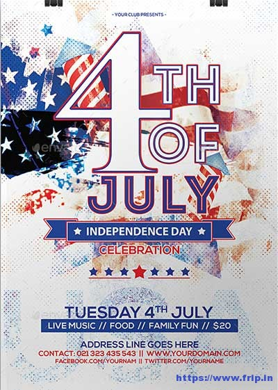 60 Best 4th of July US Independence Day Flyers Print Templates - independence day flyer