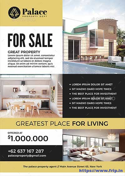 50 Best Real Estate Flyer Print Templates 2017 Fripin - house flyer template