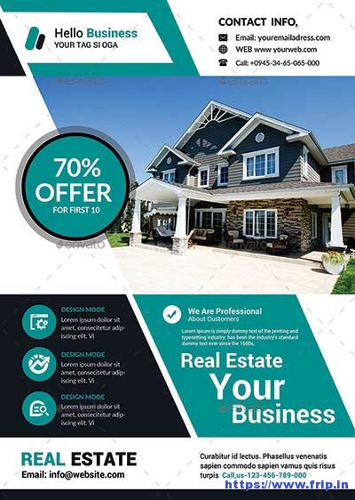 50 Best Real Estate Flyer Print Templates 2017 Fripin
