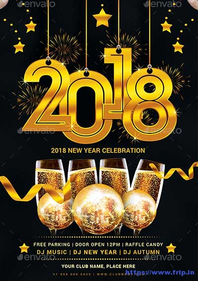 75 Best New Year Flyer Print Templates 2019 Fripin