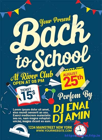 60+ Best Back To School Flyer Print Template 2018 Fripin - back to school flyers