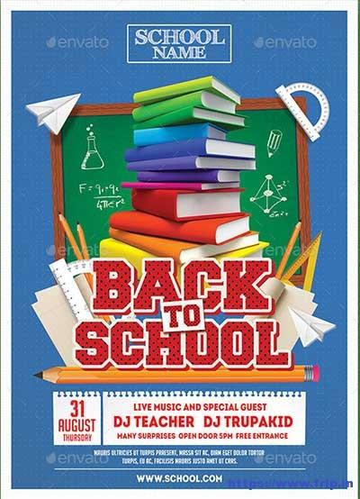 60+ Best Back To School Flyer Print Template 2018 Fripin - free school flyer template