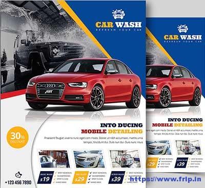 20 Best Car Wash Flyer Print Templates 2018 Fripin - car wash flyer template