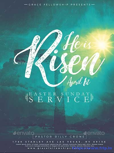 35 Best Easter Church Flyer Print Templates 2019 Fripin
