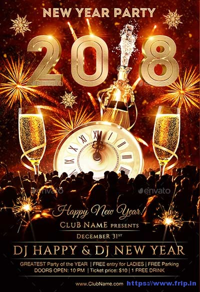 Collection of Best New Years Party 2018 - Christmas Tree Decoration - new years party flyer