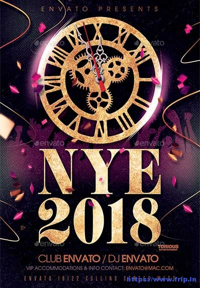 65 Best New Year Flyer Print Templates 2018 Fripin - new year poster template