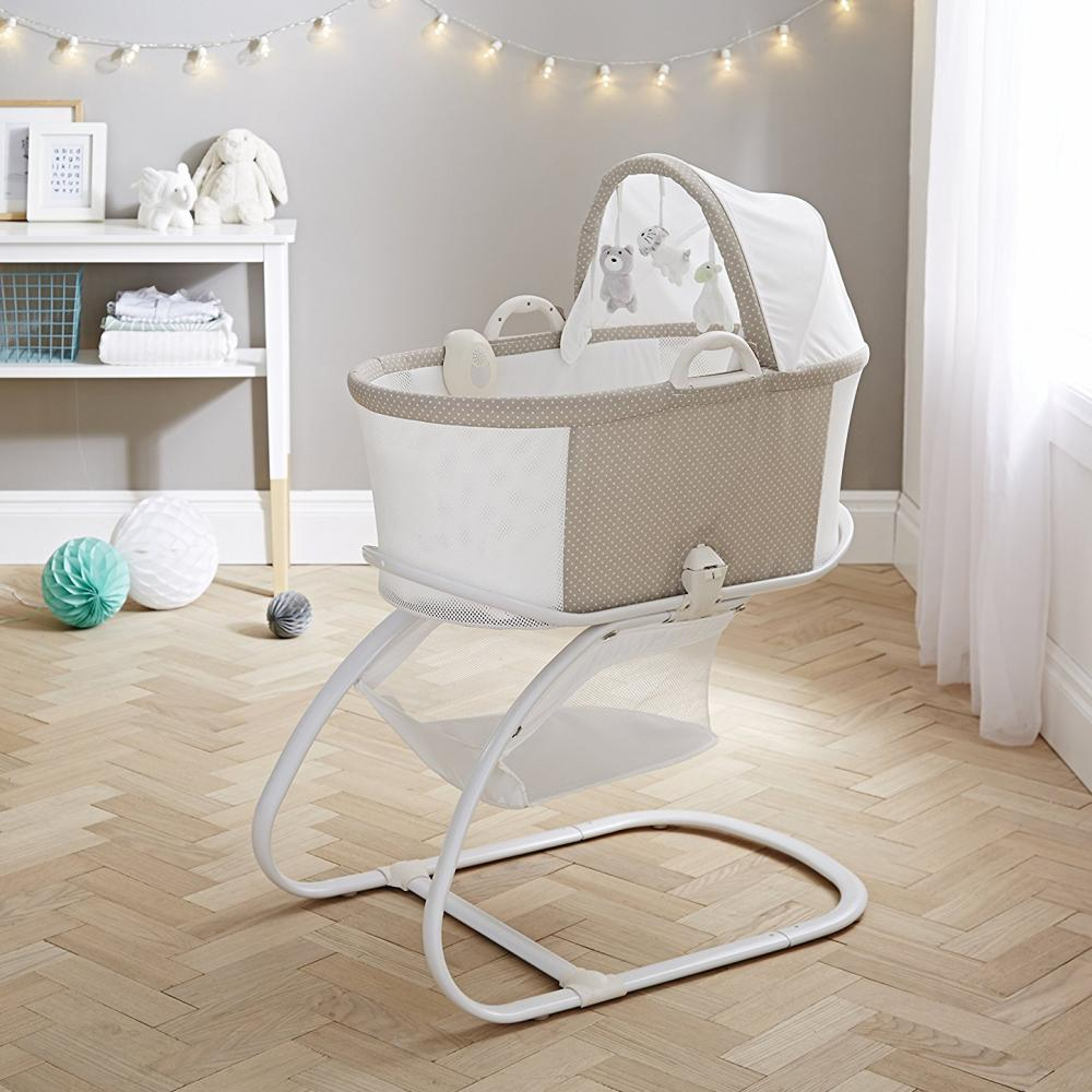 Baby Bassinet Moses Basket Details About Purflo Bassinet Baby Crib Moses Basket With Mattress Stand Sound Box Toys