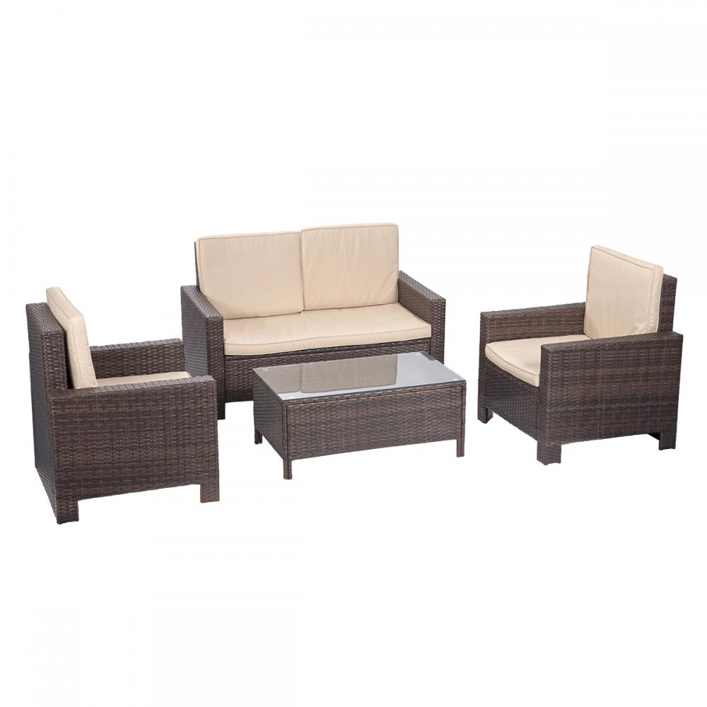Sofa Cushions Set 4pc Pe Rattan Wicker Sofa Set Cushion Outdoor Patio Sofa