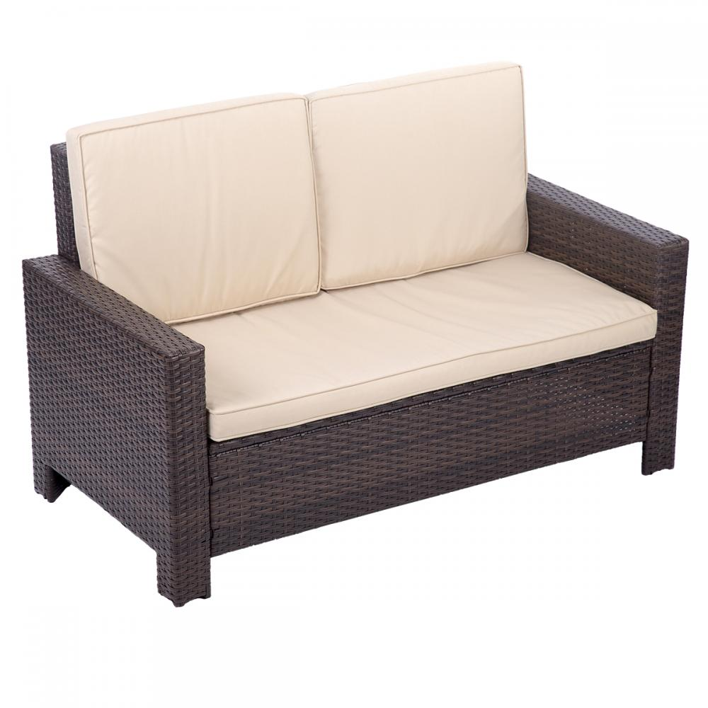 Sofa Rattan 4pc Pe Rattan Wicker Sofa Set Cushion Outdoor Patio Sofa