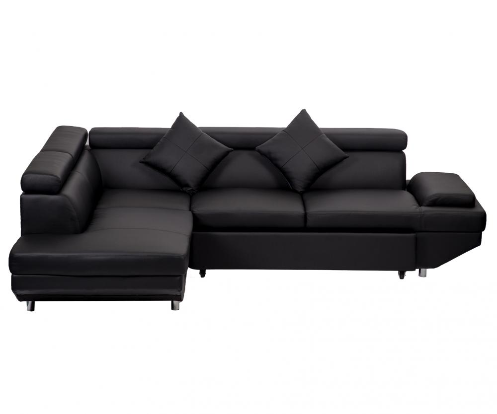 Sofa Modern Details About Contemporary Sectional Modern Sofa Bed Black With Functional Armrest Back L