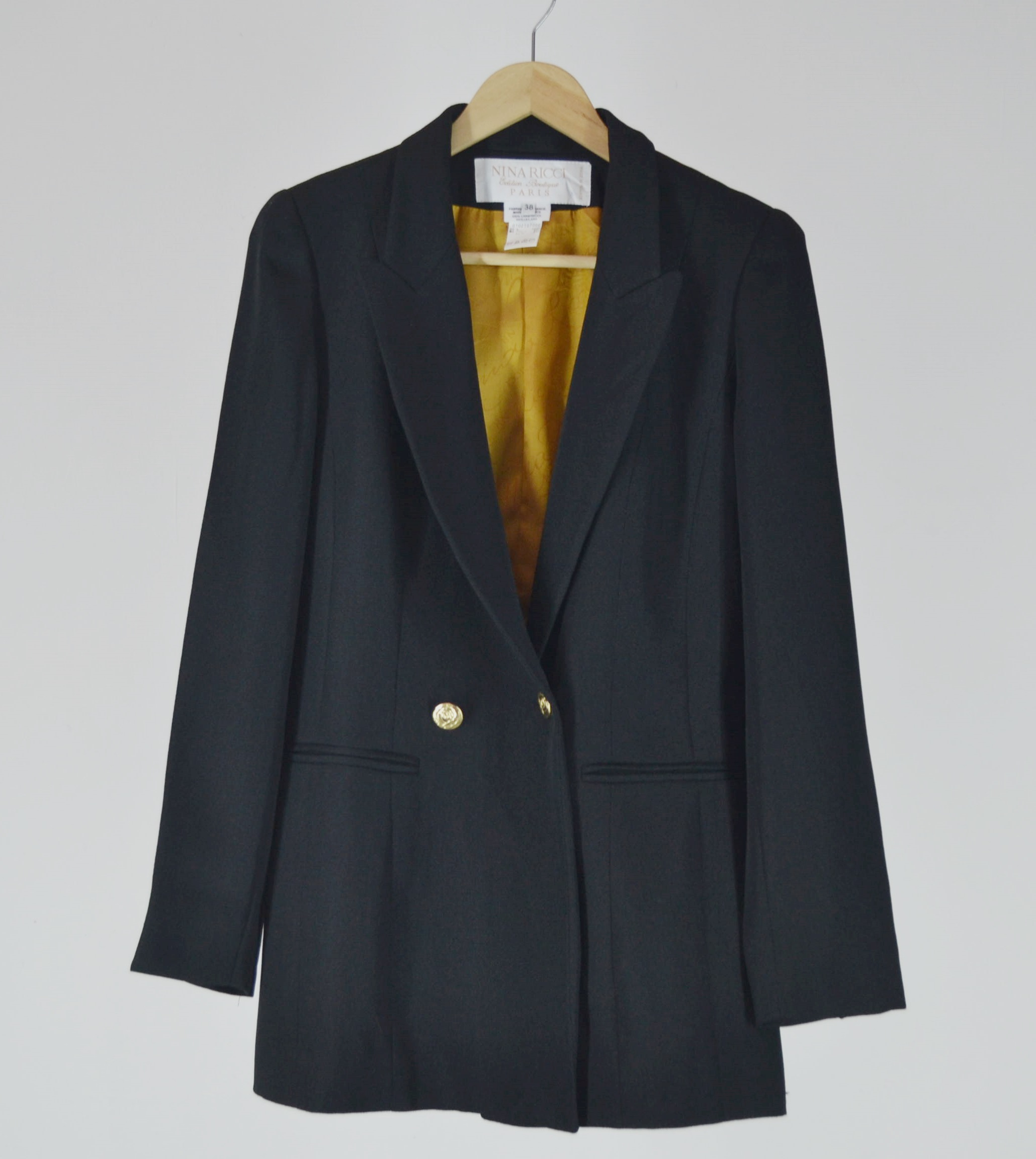 Boutique Made Paris Nina Ricci Paris Boutique Edition Wool Blazer Made In France