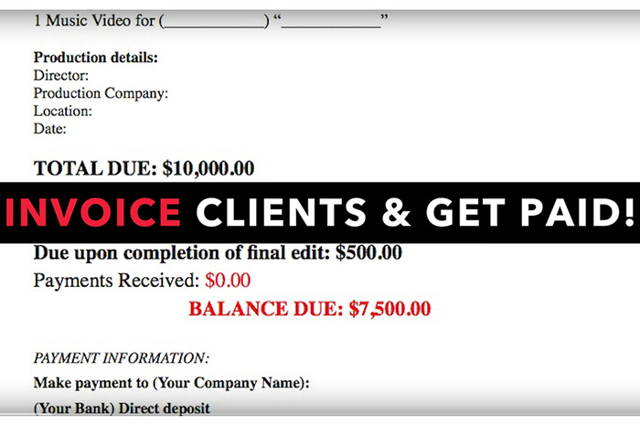 How to Build a Proper Invoice Template for Your Photography Business - invoice for business