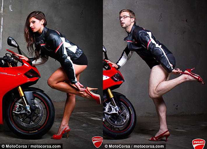 Cafe Racer Girl Wallpaper All Male Motorcycle Dealership Mocks Adverts With Their