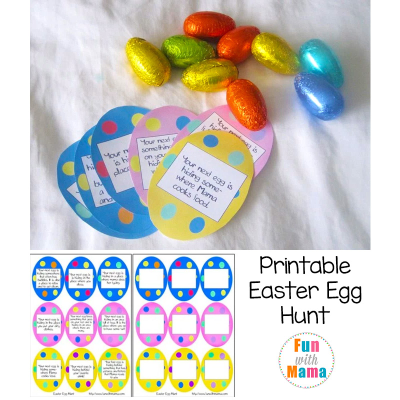 Printable Easter Egg Hunt Ideas + Clues - Fun with Mama