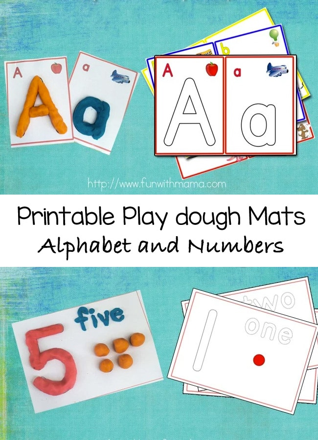 Alphabet Letter Play Dough Mats, Numbers, and Arabic Numbers - Fun