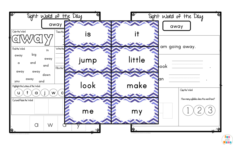 Free Dolch Pre-Primer Sight Words Worksheets - Fun with Mama