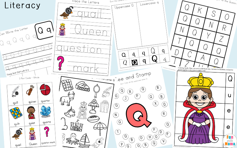 Letter Q Preschool Printable Pack - Fun with Mama