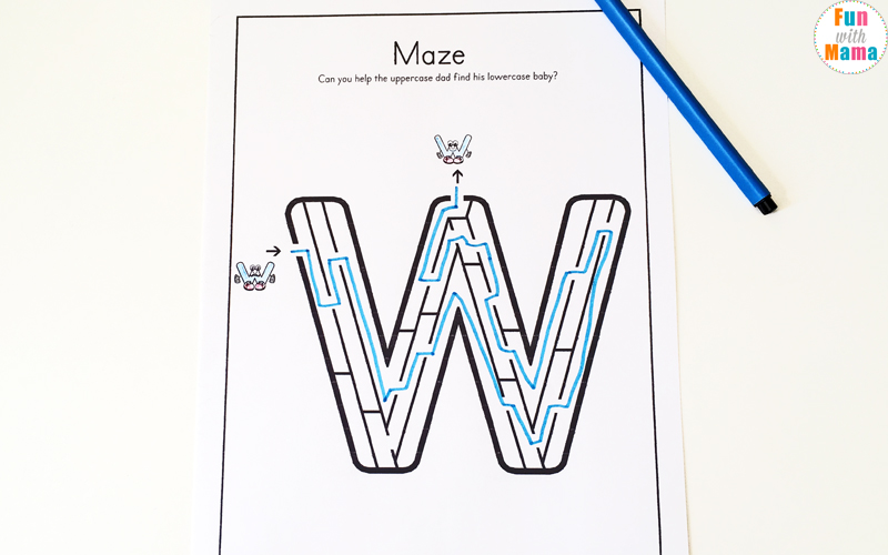 Letter W Worksheets For Preschool + Kindergarten - Fun with Mama