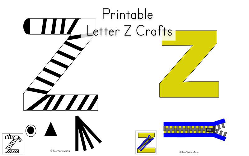 Letter Z Worksheets For Preschool + Kindergarten - Fun with Mama