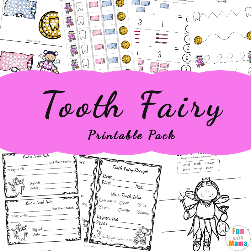 Tooth Fairy Ideas and Activities With Printable Tooth Fairy Letter