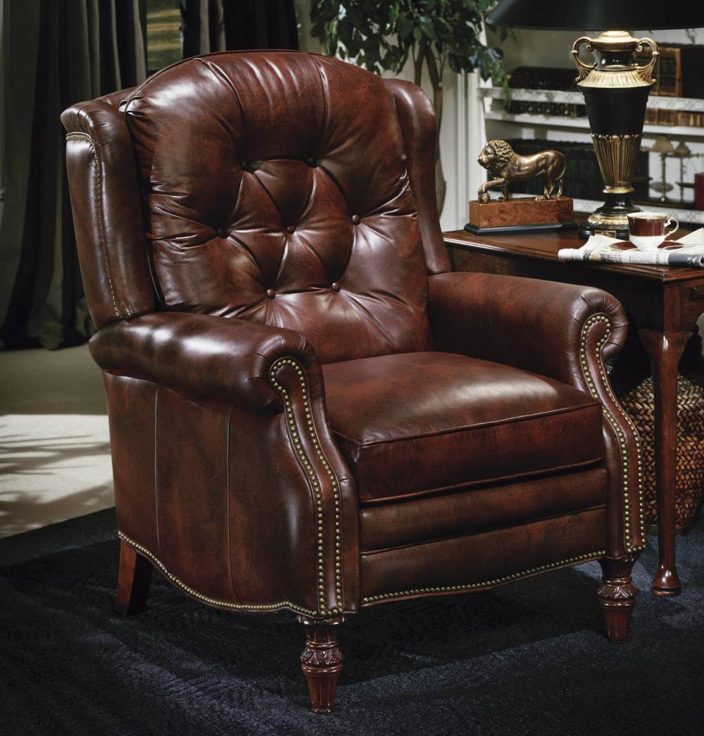 Victoria High Leg Lounger By Bradington Young Furnitureland South The World S Largest Furniture Store