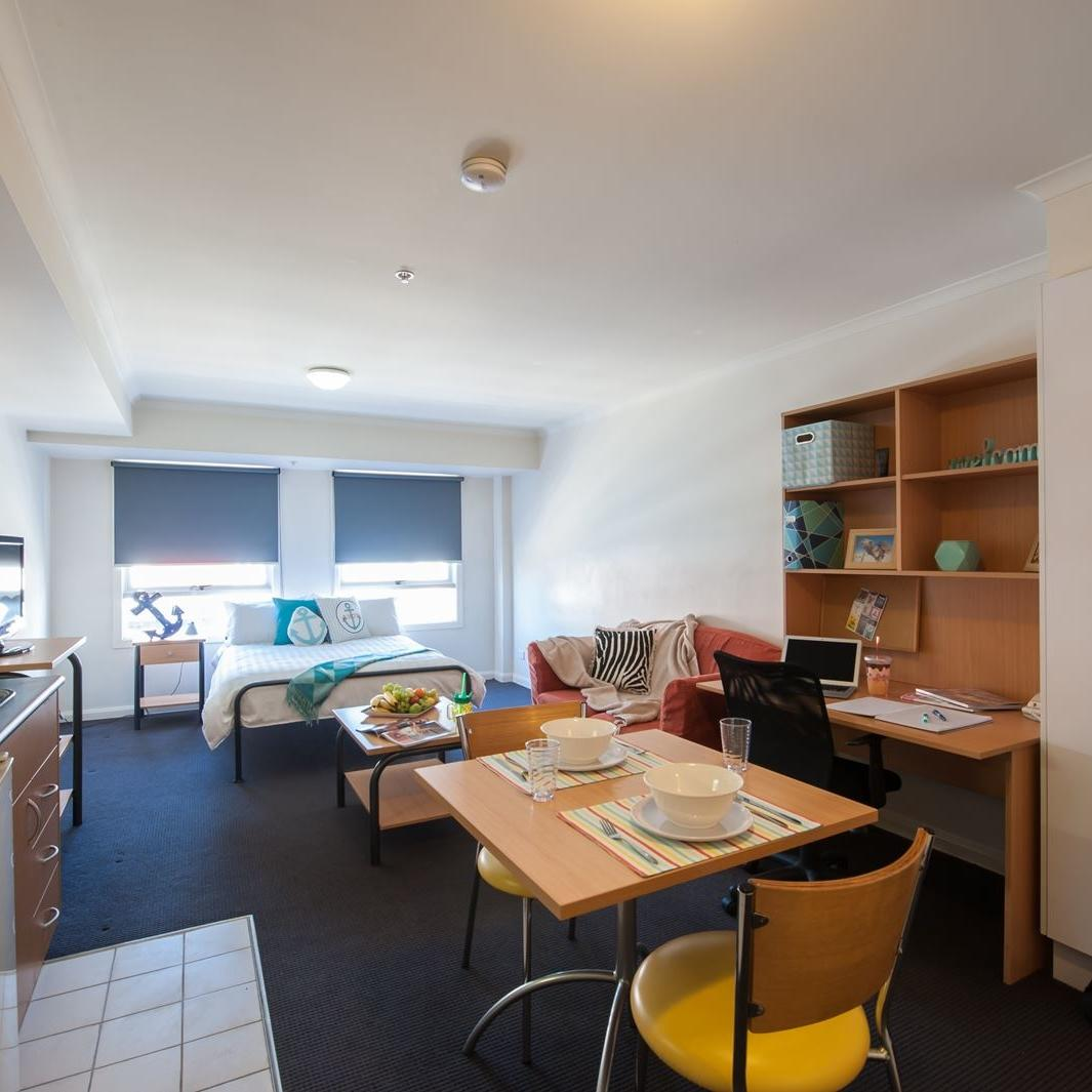 Studio Apartment Melbourne Student Accommodation Melbourne Unilodge On Flinders