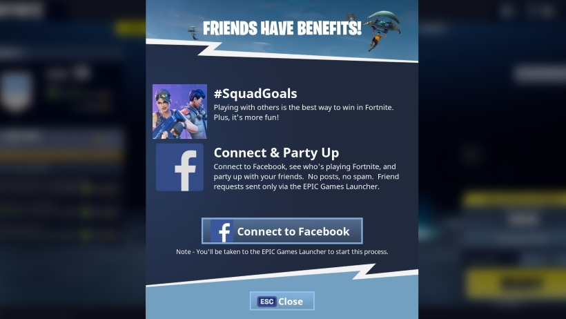 Fortnite Battle Royale - How to link friends on Facebook Metabomb