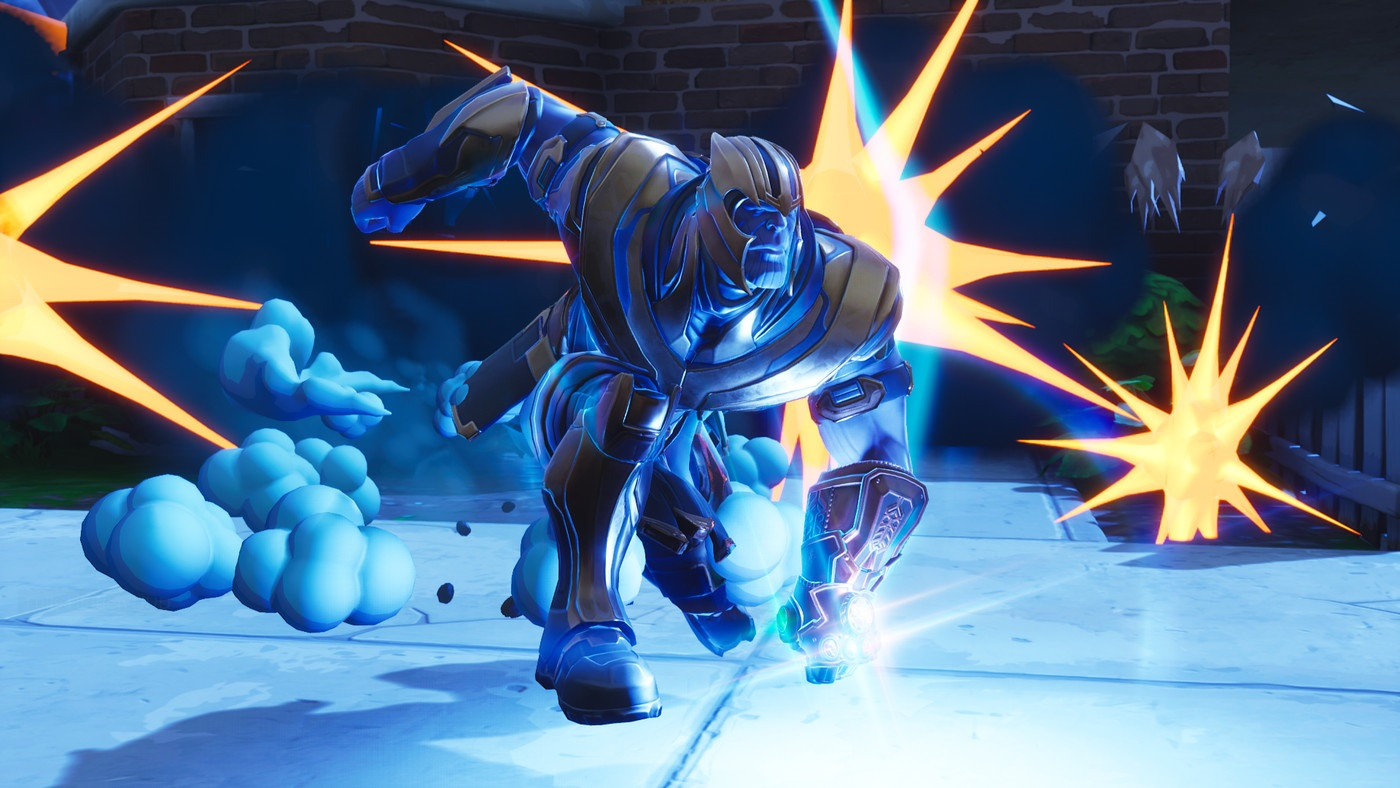 Fortnite Wallpaper Falling From The Sky Avengers Infinity War S Thanos Isn T As Threatening In