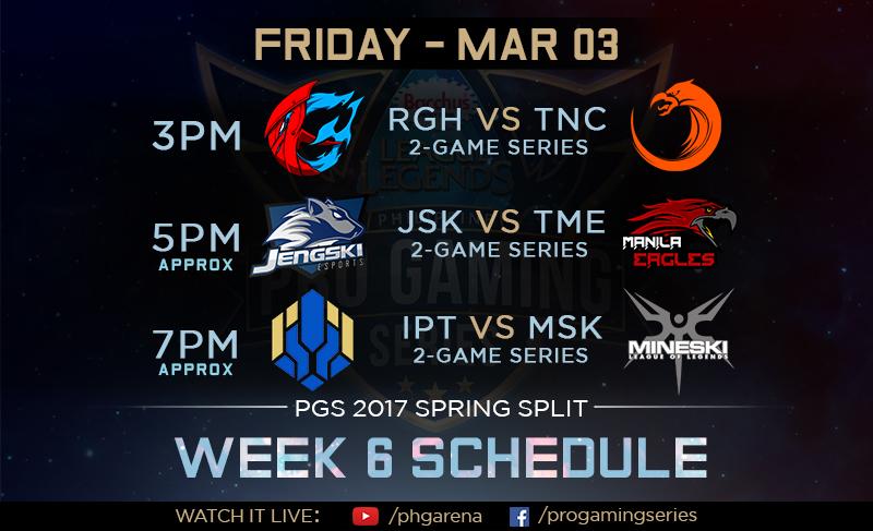 PGS Spring 2017 Week 6 Schedule