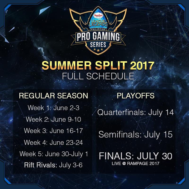 PGS Summer 2017 Full Schedule