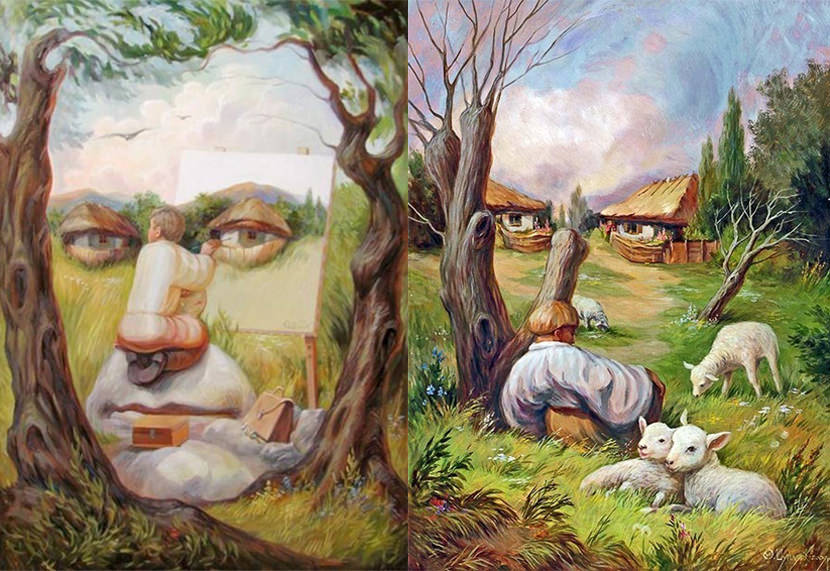 Hidden 3d Illusion Wallpapers 10 Creative Seamless Optical Illusion Pictures Paintings