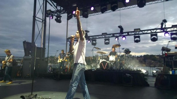 That surprise Maroon 5 concert in Seattle on Wednesday night was - interning at microsoft