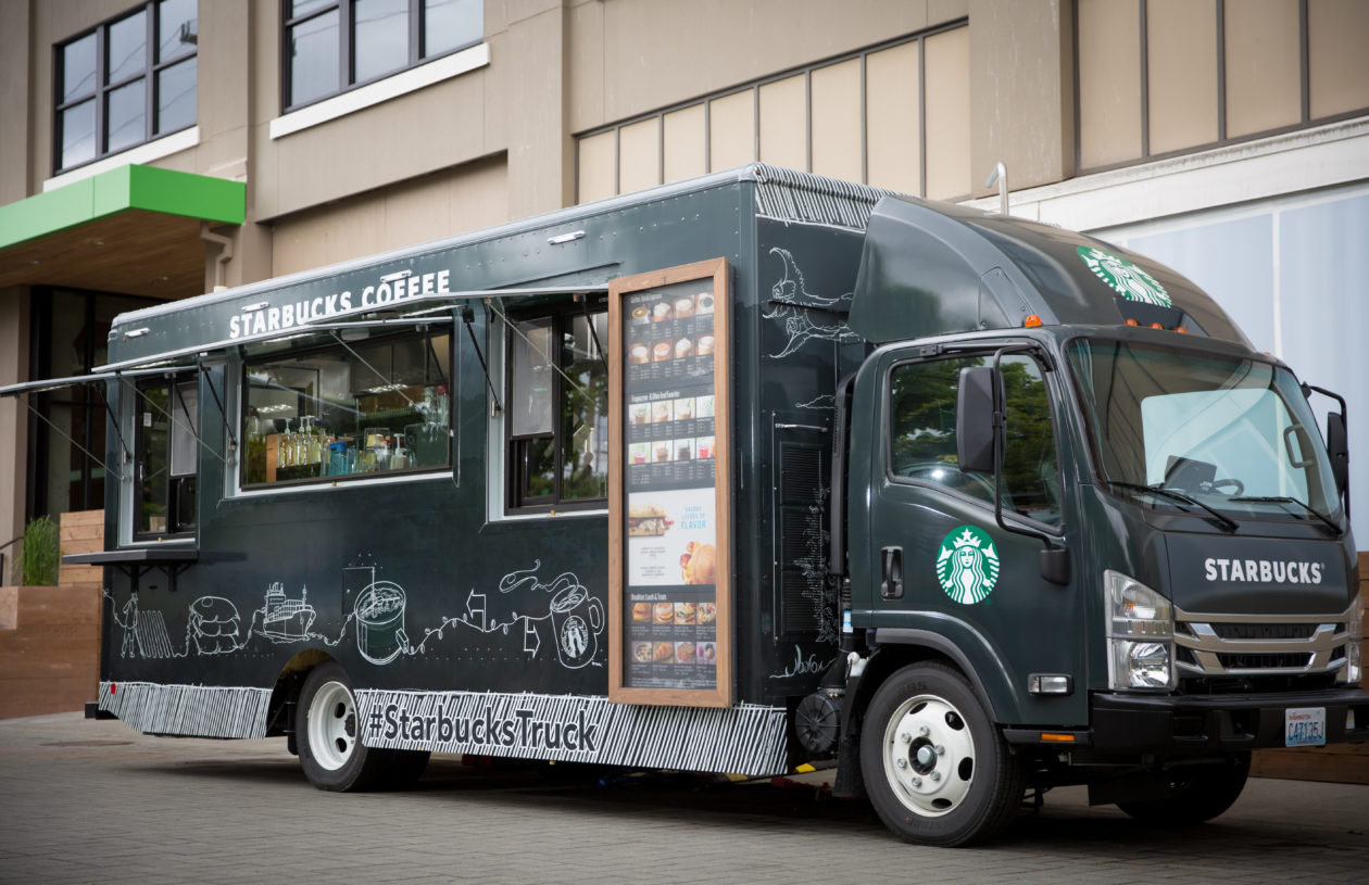 Alchemy Coffee Food Truck Starbucks Rolls Its Own Coffee Truck In Front Of Seattle