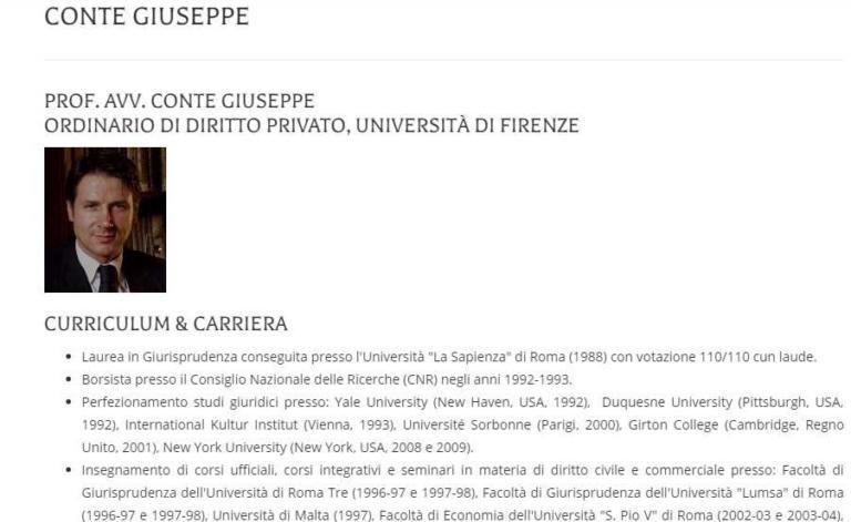 giuseppe conte cv