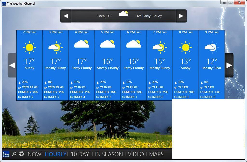 weather channel desktop weather app