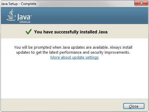 java install success