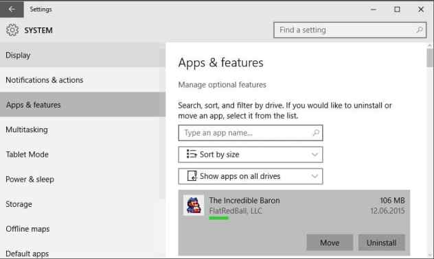 move apps windows10