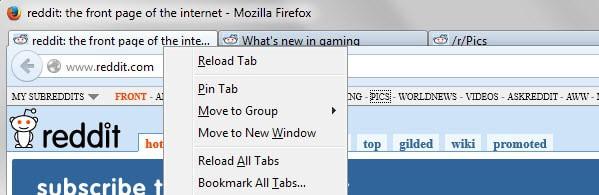 firefox bookmark all tabs