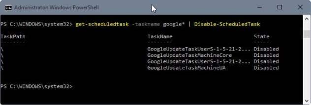 disable scheduledtasks