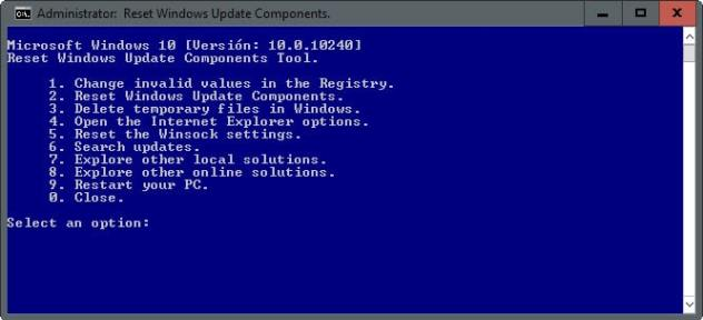 reset windows update components