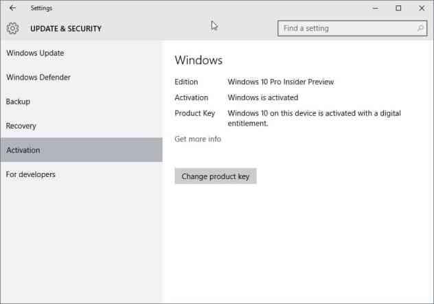windows 10 activation