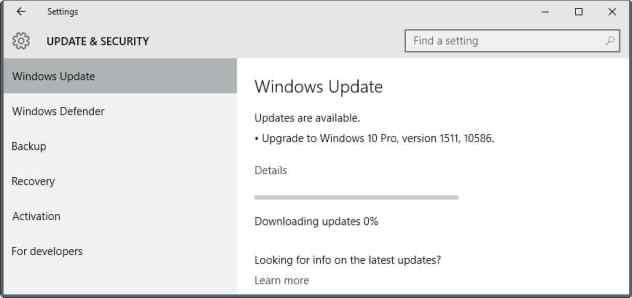 windows 10 major update