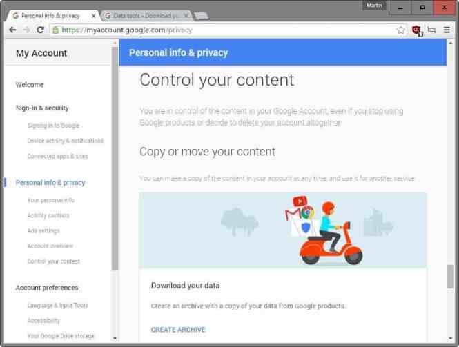 Cara Memindahkan Google data ke onedrive atau Dropbox