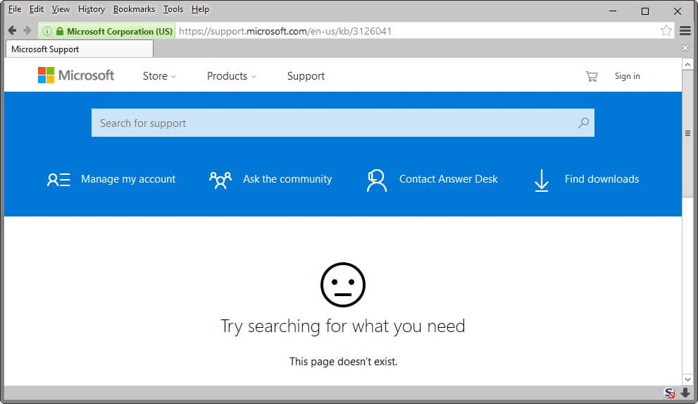 Microsoft, please publish support pages before updates - gHacks Tech