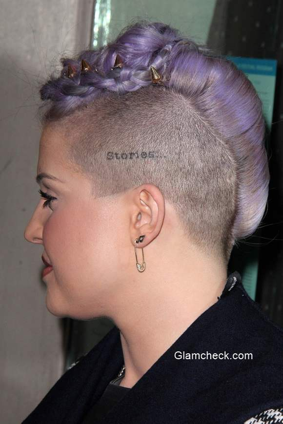 "Cut Hair In Mohawk Kelly Osbourne Sports Edgy Braided Mohawk At ""besides"